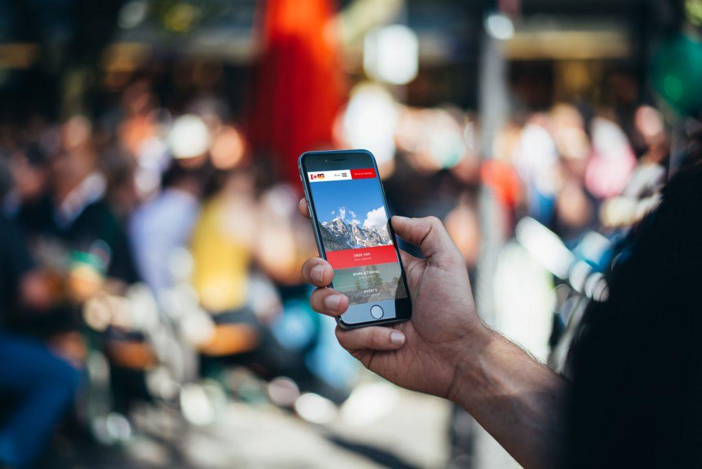 Homepage optimiert für Smartphone