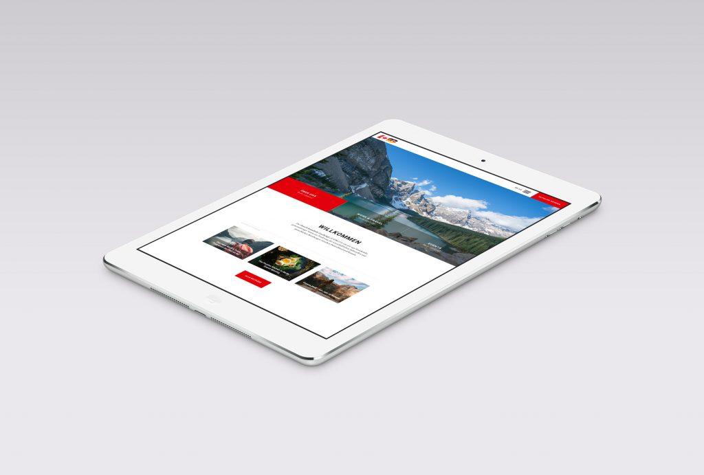 Homepage optimiert für Tablet