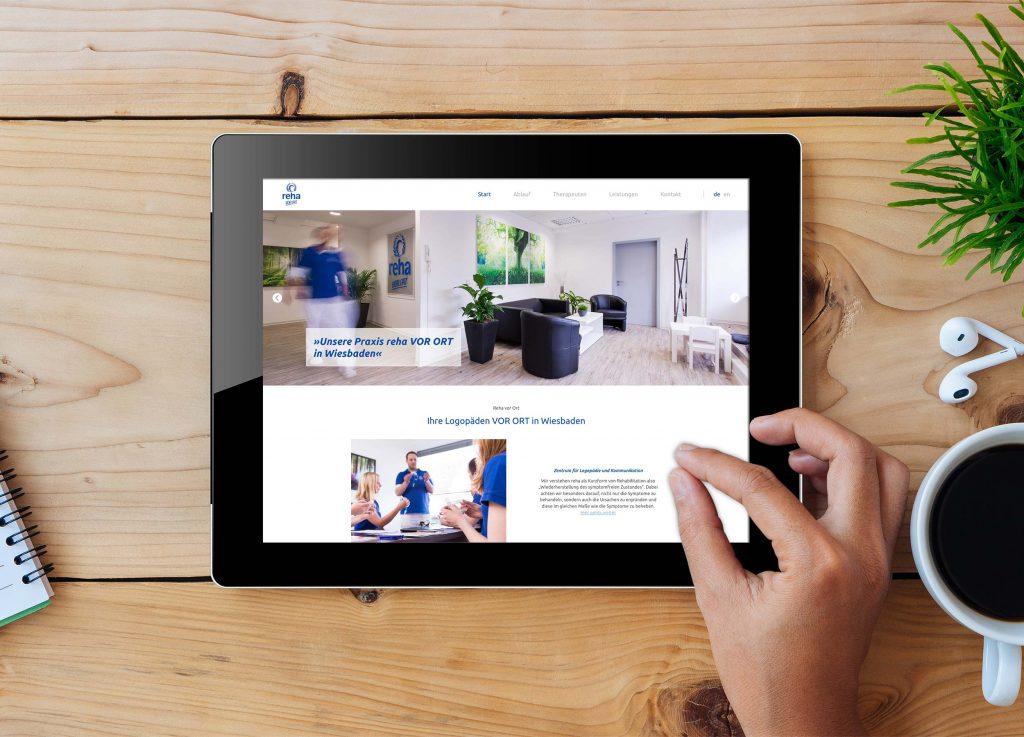 Webdesign auf dem iPad