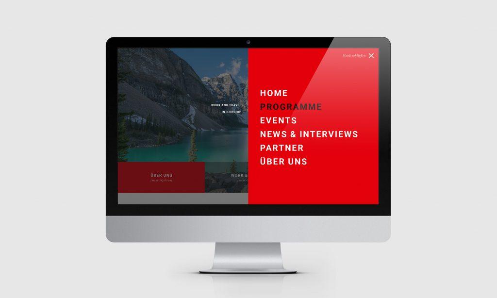 Homepage Menü Animation
